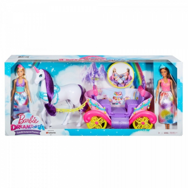 Zestaw Lalki i Karoca Barbie Dreamtopia (GNH04)