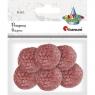 Pompony włóczkowe, 6 szt. 3cm - różowy ciemny (412946)