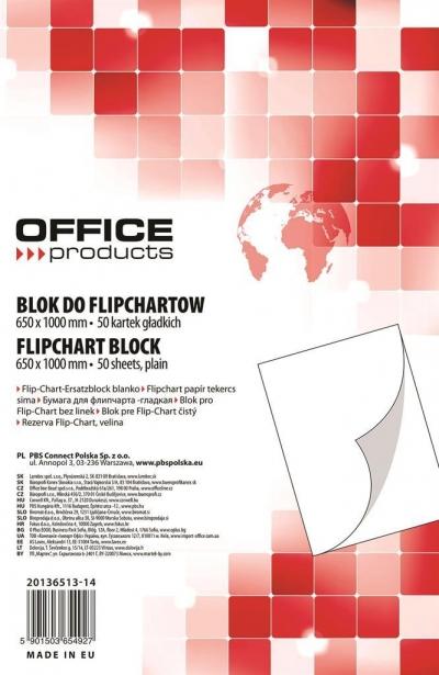 Blok do flipchartów office 50k.gładki 20136513-14 .