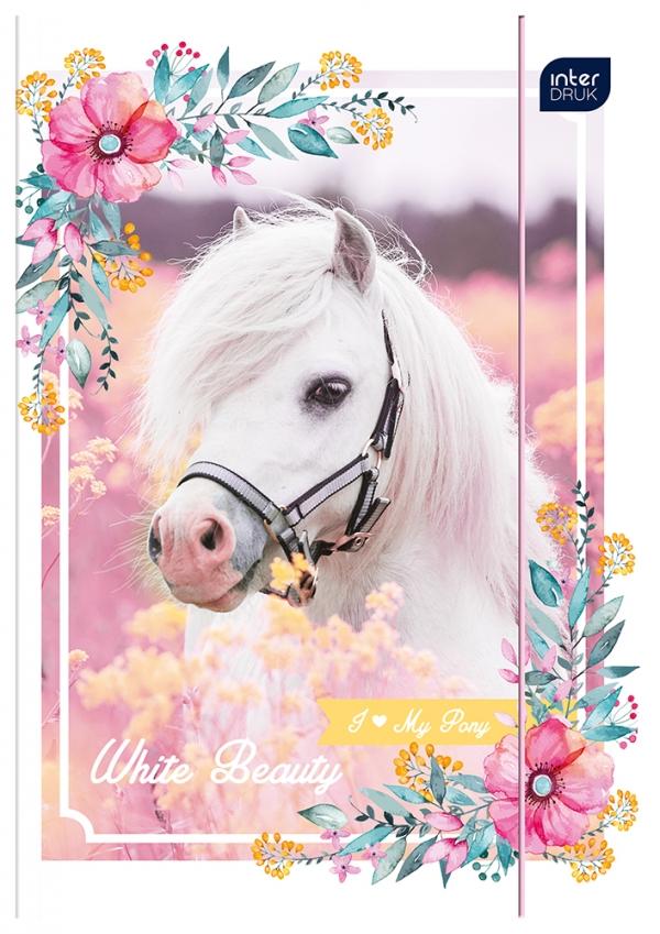 Teczka z gumką A4 LUX UV Pony