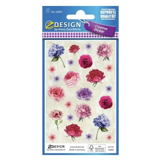 Naklejki kreatywne Z Design - Kwiaty, wytłaczane (56892)