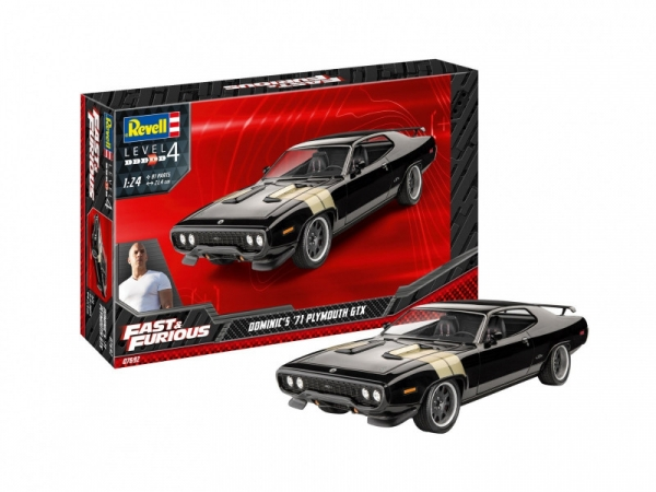 Model plastikowy Fast & Furious - Dominics 1971 Plymouth (07692)