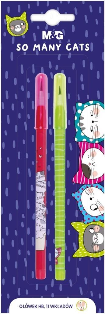 Ołówek So Many Cats + 11 wymiennych rysików 2szt
