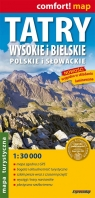 Tatry Wysokie i Bielskie polskie i słowackie mapa turystyczna laminowana 1:30 000
