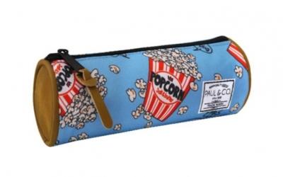 Piórnik Popcorn niebieski