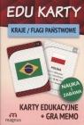 Edu karty Kraje flagi państwowe + gra memo