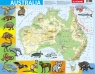 Puzzle ramkowe 72: Australia - mapa fizyczna