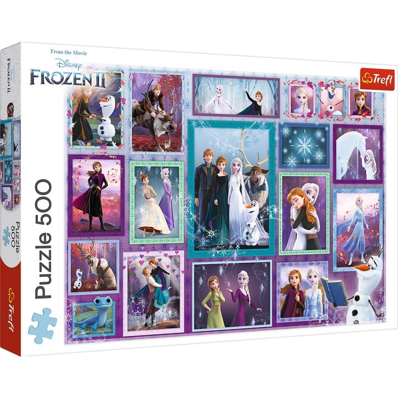Puzzle 500: Frozen 2 - Magiczna galeria (37392)