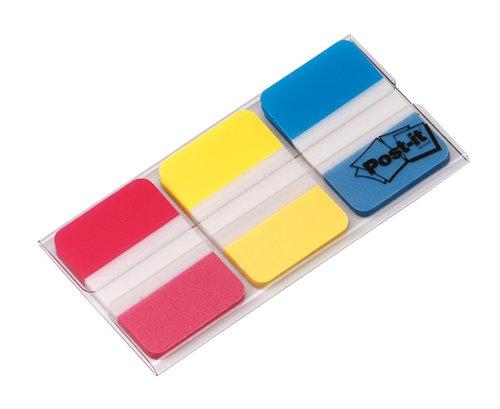 Zakładki indeksujące POST-IT do archiwizacji PP silne, 38x25mm, 3x22 kartki mix kolorów