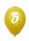 Balony pastelowe numer 5 (mix) (K7929)