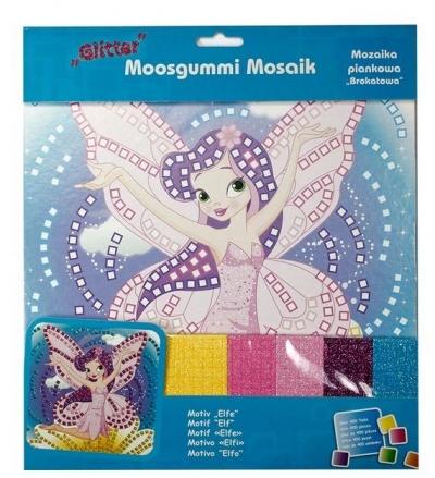 Mozaika piankowa brokatowa Elf