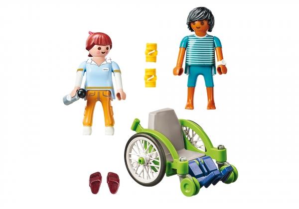 Playmobil City Life: Pacjent na wózku inwalidzkim (70193)