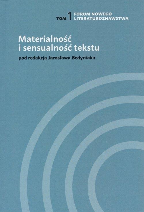 Materialność i sensualność tekstu Abramczyk Magdalena, et al.