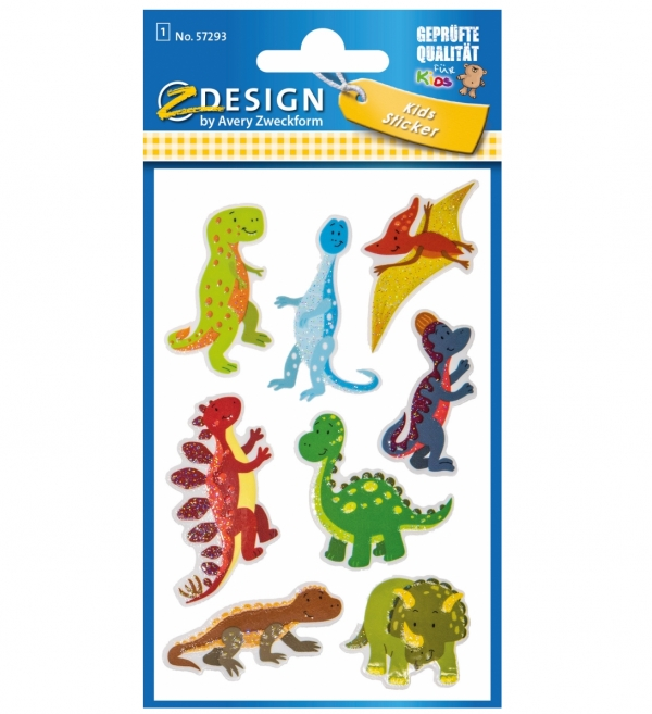 Naklejki brokatowe - Dinozaury (57293)