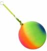 Piłka miękka guma Toys Group tęczowas na sprężynie (TG409506)