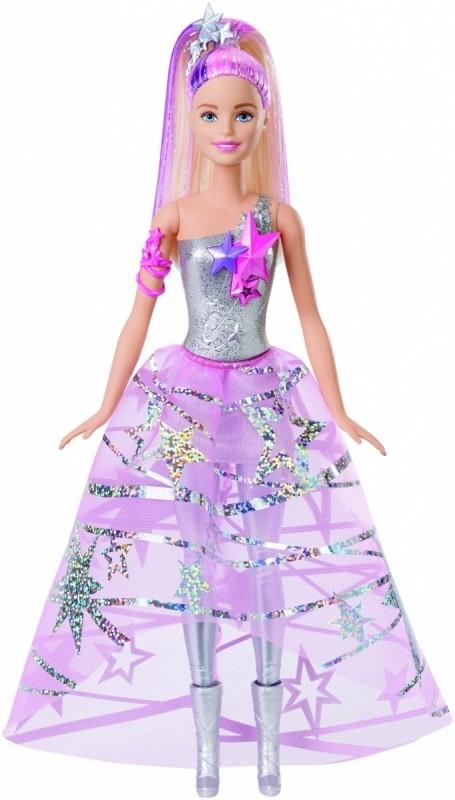 BARBIE SA Barbie w gwiezdnej sukni (Uszkodzone opakowanie)