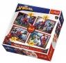 Puzzle 4w1 W sieci Spider-mana TREFL
