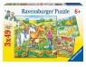 Puzzle Zwierzęta na farmie 3x49 (092932)