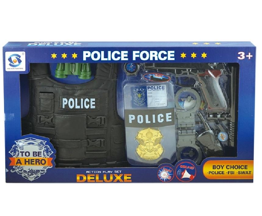 Zestaw policyjny z kamizelką (105932). Wiek: 3+