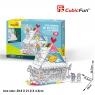 Puzzle 3D: Zabawkowy domek, zestaw do kolorowania (306-20693)