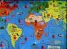 Puzzle drewniane układanka z pinezkami Mapa świata (1567932)