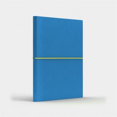 Notatnik B6 Fun S kratka niebieski/cytrynowy