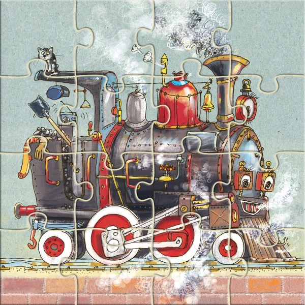 Pojazdy. Puzzle 3 w 1 Nowicki Artur