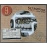 Łamigłówki metalowe 9 sztuk Steampunk zestaw brązowy (108224)