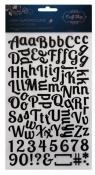 Naklejki Litery i cyfry czarne