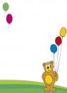 Dyplomy dziecięce 20 arkuszy Miś z balonikami