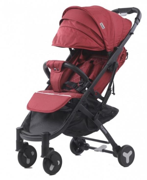 Wózek spacerowy S600 Czerwony (Tesoro S600-Red)