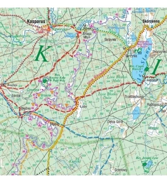 Bory Tucholskie. Szlak kajakowy Brdy. Mapa turystyczna 1:75 000
