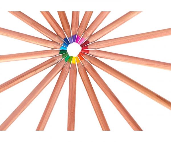 Kredki ołówkowe w metalowym pudełku Astra Prestige, 24 kolory (312117002)