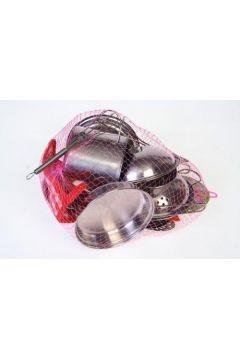 Naczynia kuchenne metalowe w siatce