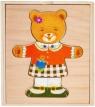Układanka drewniana - Miś dziewczynka (SPW83593)