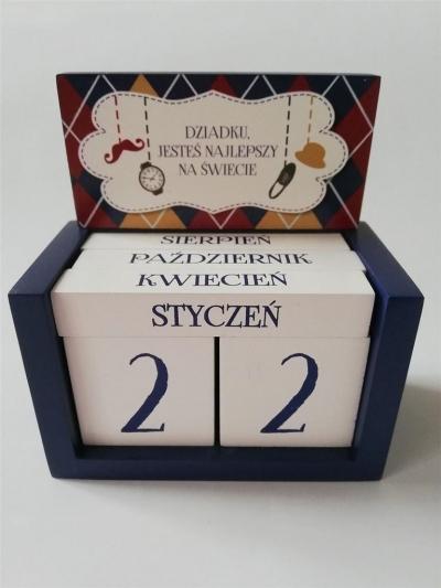 Kalendarz klockowy - Dziadku, jesteś.. (granat)