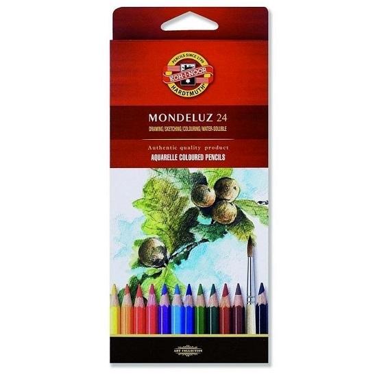 Kredki akwarelowe Mondeluz 3718, 24 kolory (11833)