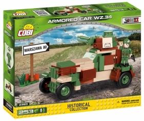 Cobi: Mała Armia WWII. Armored Car wz.34 - lekki samochód pancerny (2393)