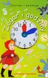 Zegar i godziny z Czerwonym Kapturkiem