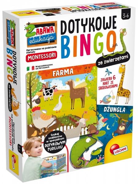 Montressori Plus - Dotykowe bingo ze zwierzętami (304-PL72460)