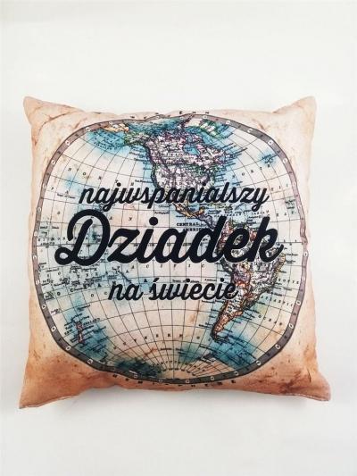 Poduszka - Mapa świata