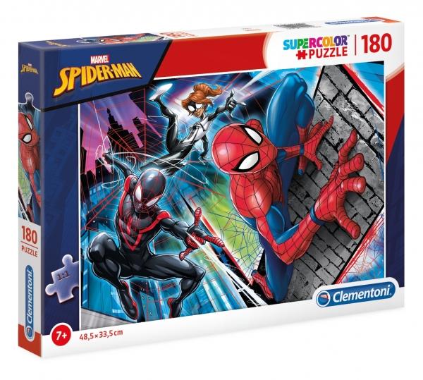 Puzzle 180: SuperColor - Marvel Spider-Man (29293) (Zgnieciony kartonik)