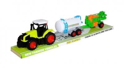 Traktor z dwiema maszynami