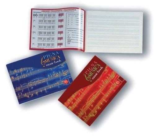 Zeszyt do muzyki 17x24 Pigna Musica pięciolinia 16 kartek mix kolorów