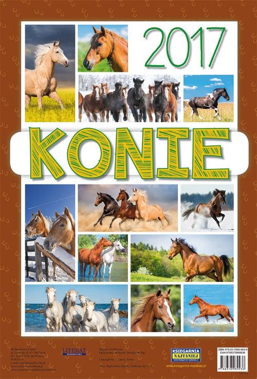 Kalendarz 2017 ścienny Konie