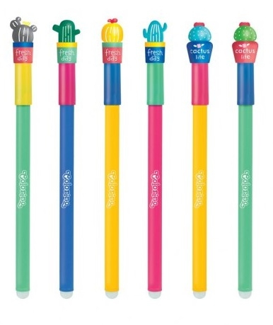 Kids długopis wymazywalny KAKTUS COLORINO SCHOOL