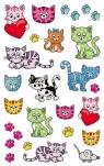 Naklejki metaliczne dla dzieci - Koty (56793)