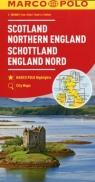 Szkocja Anglia Północna mapa samochodowa 1:300