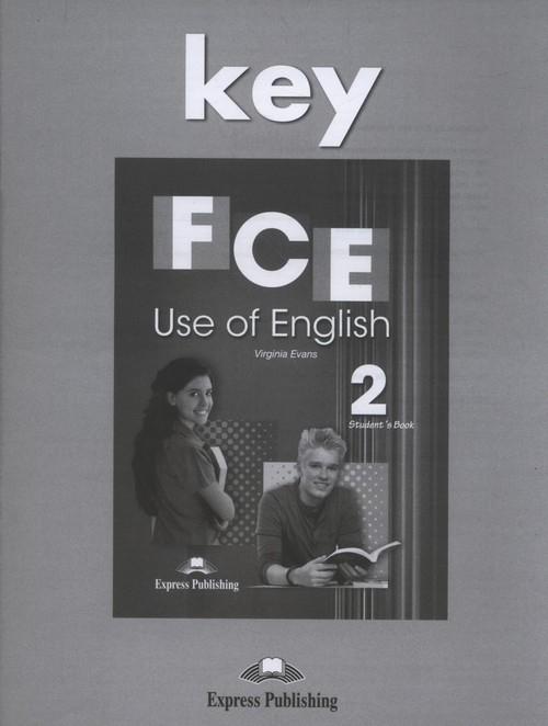 FCE Use of English 2 Answer Key Evans Virginia