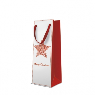 Torba premium Star on Christmas red bottle AGB2004104 AGB2004104